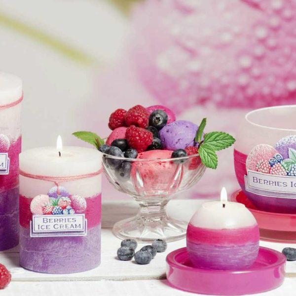 Berries and Ice Cream